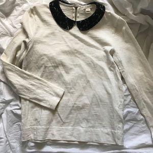 J. Crew lace collar shirt